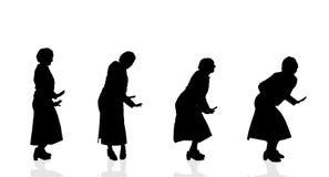 Silueta del vector de una mujer Imagen de archivo libre de regalías