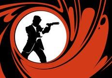 Silueta del vector del agente secreto o del espía libre illustration