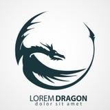 Silueta del vector del dragón Foto de archivo libre de regalías