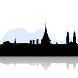 Silueta del vector del horizonte de Zurich Fotografía de archivo