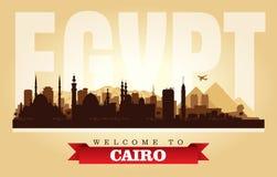 Silueta del vector del horizonte de la ciudad de El Cairo Egipto libre illustration