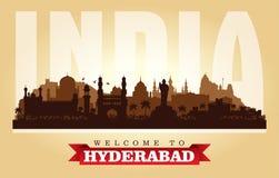 Silueta del vector del horizonte de la ciudad de Hyderabad la India ilustración del vector