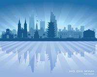 Silueta del vector del horizonte de Vietnam de la ciudad de Ho Chi Minh stock de ilustración