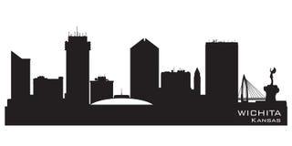 Silueta del vector del horizonte de Wichita Kansas City libre illustration