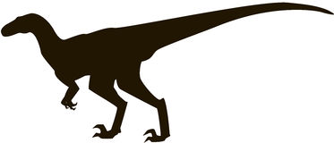 Silueta del Velociraptor Imagen de archivo