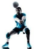 Silueta del voleibol del hombre Imagen de archivo libre de regalías