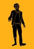 Silueta del zombi Imagen de archivo