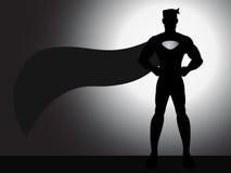 Silueta derecha del super héroe Foto de archivo libre de regalías