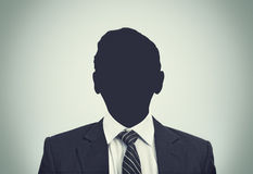 Silueta desconocida de la persona Fotografía de archivo libre de regalías