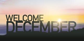 Silueta diciembre con salida del sol fotografía de archivo