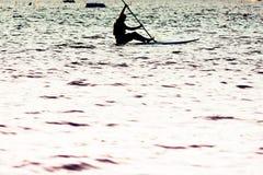 Silueta en el agua Imagen de archivo libre de regalías