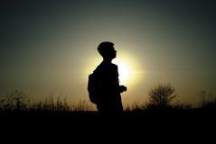 Silueta en el sol Fotografía de archivo