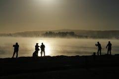 Silueta en Rotorua Fotografía de archivo libre de regalías