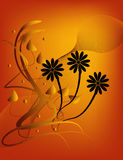 Silueta floral Libre Illustration