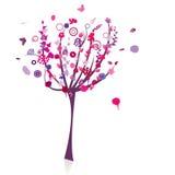 Silueta floral del árbol Fotografía de archivo