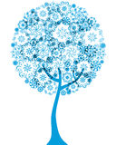 Silueta floral del esquema del árbol Fotografía de archivo