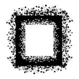 Silueta floral del marco Imágenes de archivo libres de regalías