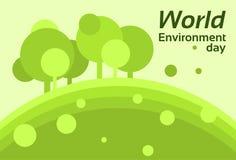 Silueta Forest Nature Landscape Tree de la protección de la tierra del día del ambiente mundial Imagenes de archivo
