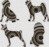 Silueta geométrica de un perro Imagen de archivo libre de regalías
