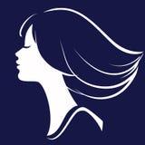 Silueta hermosa de la cara de la muchacha libre illustration