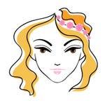 Silueta hermosa de la cara de la muchacha Fotografía de archivo libre de regalías