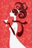 Silueta hermosa de la mujer Ilustración del Vector