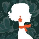 Silueta hermosa de la mujer elegante Imagen de archivo