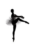 Silueta hermosa de la sombra de la bailarina 5 imagen de archivo libre de regalías