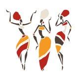 Silueta hermosa de los bailarines Imagenes de archivo