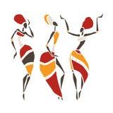 Silueta hermosa de los bailarines Fotos de archivo