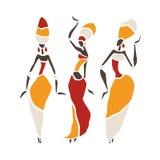Silueta hermosa de los bailarines Foto de archivo
