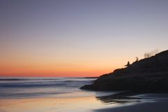 Silueta II. de la puesta del sol. Fotos de archivo libres de regalías