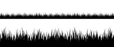 Silueta inconsútil de la hierba Fotografía de archivo libre de regalías