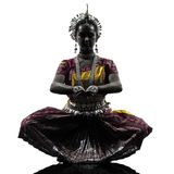Silueta india del baile del bailarín de la mujer Fotografía de archivo
