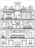 Silueta interior Ilustración del vector Foto de archivo libre de regalías