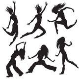 Silueta moderna de los bailarines Foto de archivo libre de regalías