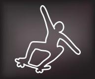 Silueta muerta del skater libre illustration