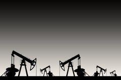 Silueta negra de la bomba de aceite Fotografía de archivo libre de regalías