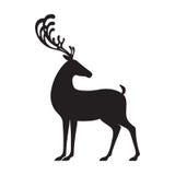 Silueta negra de los alces del ejemplo del vector de los ciervos Imagenes de archivo