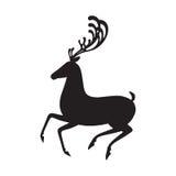 Silueta negra de los alces del ejemplo del vector de los ciervos Fotografía de archivo libre de regalías