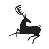 Silueta negra de los alces del ejemplo del vector de los ciervos Fotos de archivo