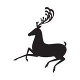 Silueta negra de los alces del ejemplo del vector de los ciervos Foto de archivo