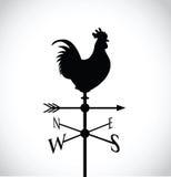 Silueta negra del pollo Imágenes de archivo libres de regalías