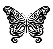 Silueta ornamental de la mariposa Imágenes de archivo libres de regalías