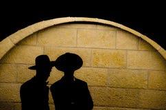Silueta ortodoxa judía Imágenes de archivo libres de regalías