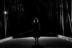 Silueta oscura Imagen de archivo libre de regalías