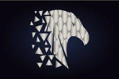 Silueta poligonal de un p?jaro Tri?ngulos de plata libre illustration