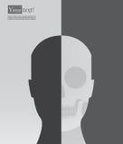 Silueta principal con el esqueleto libre illustration
