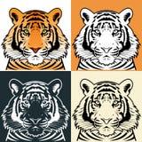 Silueta principal del tigre, vector Fotos de archivo libres de regalías