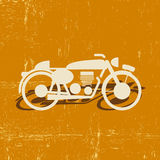 Silueta retra de la motocicleta Fotos de archivo libres de regalías